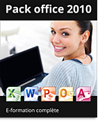Pack Office 2010 - Formations complètes : Excel + PowerPoint + Word,