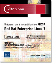 Préparation à la certification RHCSA - Red Hat Enterprise Linux 7 - Examen EX200, livre certification , RHCSA , Red Hat , Linux , ex200 , redhat