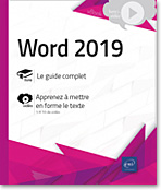 Word (versions 2019 et Office 365), Microsoft, traitement de texte, plan, table des matières, document maître, formulaire, mailing, publipostage, macro-commandes, suivi des modifications, word 19, Office 2019, Office 19, word19, word2019, LNVKBRB19WOR