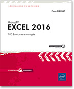 Microsoft - tableur - classeur - feuille de calcul - formule - graphique - tableau croisé - audit - scénario - solveur - liste - statistique - excel 16 - slicer - sparkline - Office 2016 - Office 16